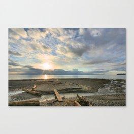 Walk Along the Beach Canvas Print