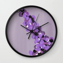 Purple foliage Wall Clock