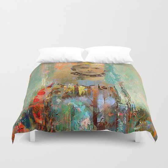 Le petit clown Duvet Cover