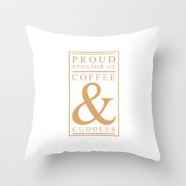 Coffee and Cuddles Graphic T-shirt Throw Pillow