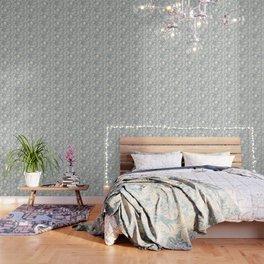arctic polar bears silver Wallpaper