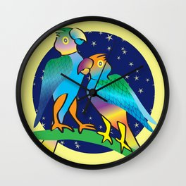 Talking To The Stars Wall Clock