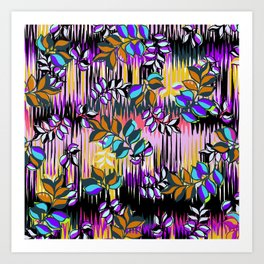 High Definition Leaves Art Print