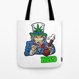 I WANT WEED Smoking Joint Bong Grass 420 Dope Pot Tote Bag