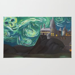 Starry Night at Hogwarts Rug