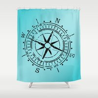 nautical Shower Curtains featuring Nautical  by gypsykissphotography