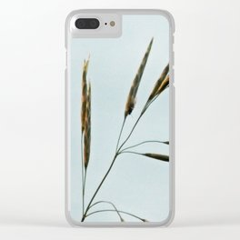 Beachgrass Seed Clear iPhone Case