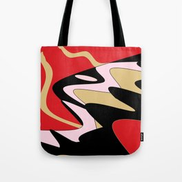 Snake Hill - Red and Black Tote Bag