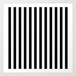 Large Black and White Cabana Stripe Art Print