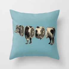 Deconstructed cow Throw Pillow