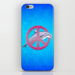 Dolphin And Pink Peace Sign iPhone Skin