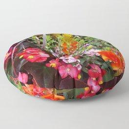 Summer Flower Garden Floor Pillow