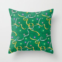 Christmas Trimmings Holiday Pattern Throw Pillow