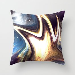 returning to the cosmos | Abstract Painting Throw Pillow