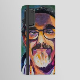 Portrait of the Artist Smirking Android Wallet Case