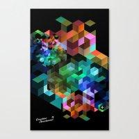 tetris Canvas Prints featuring TETRIS by Creative Streetwear