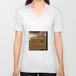TOKYO: Room View Man at Window. Unisex V-Neck