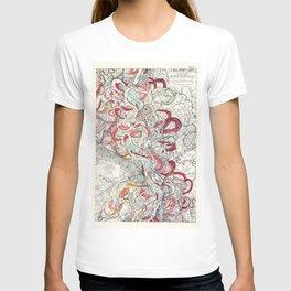 Cool Vintage Map of Mississippi River - Sheet 6 T-shirt