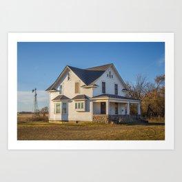 Beautiful House, Chaseley, North Dakota 2 Art Print