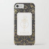 tarot iPhone & iPod Cases featuring Tarot - Pain by Enrique Larios