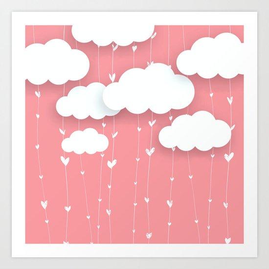 Raining Love Art Print