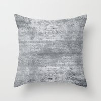 concrete Throw Pillows featuring Concrete by Grace