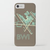 50s iPhone & iPod Cases featuring Baltimore-Washington (BWI) - 50s by Kyle Rodgers