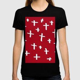red white cross T-shirt