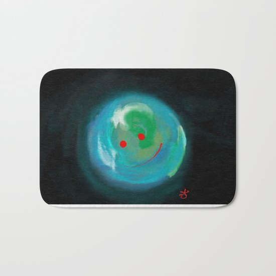 Smiling Planet Bath Mat