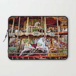 Double Decker Carnival Carousel Horse Laptop Sleeve