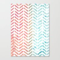 herringbone Canvas Prints featuring Herringbone by Chilligraphy