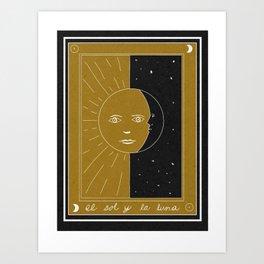 The Sun and the Moon Art Print