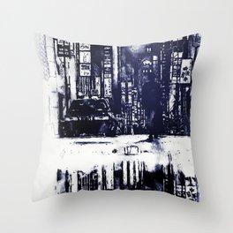 Nightlife Throw Pillow