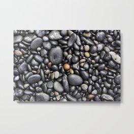 Blacksand Beach Rocks Metal Print