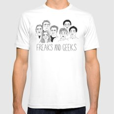 Freaks and Geeks White Mens Fitted Tee LARGE