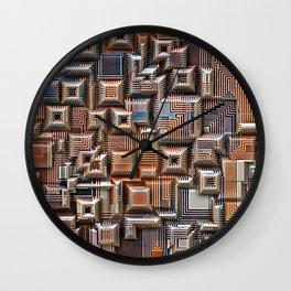 3D Digital Circuitry Wall Clock