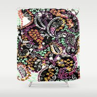 paisley Shower Curtains featuring PAISLEY by  Ray Athi