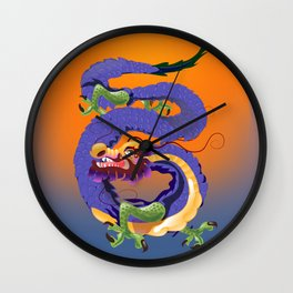 Tianjin China Dragon travel poster Wall Clock