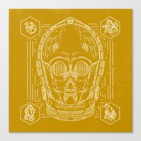 c3po Canvas Prints featuring C3PO by Jon Deviny