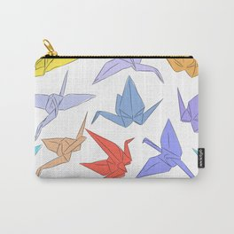 Japanese Origami paper cranes symbol of happiness, luck and longevity Carry-All Pouch