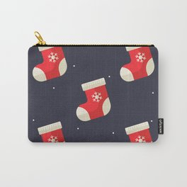Red Christmas Stocking Pattern Carry-All Pouch