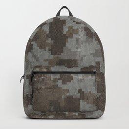 Desert Camouflage Retro Grunge Pattern Backpack
