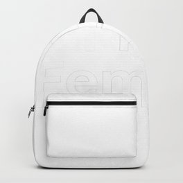 I'm a Feminist in White Backpack