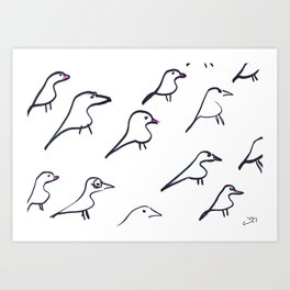 Eames Bird Babies Art Print