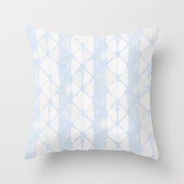 Simply Braided Chevron Sky Blue on Lunar Gray Throw Pillow