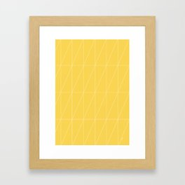 Yellow Triangles by Friztin Framed Art Print