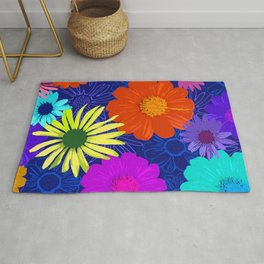 Daisy Modern Floral Pattern Rug