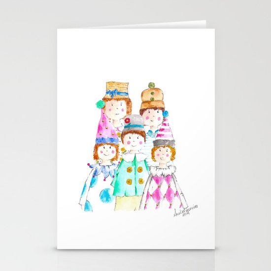 Circus Friends Stationery Cards