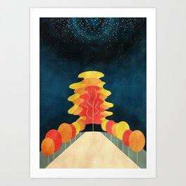 The Universe Tree Art Print