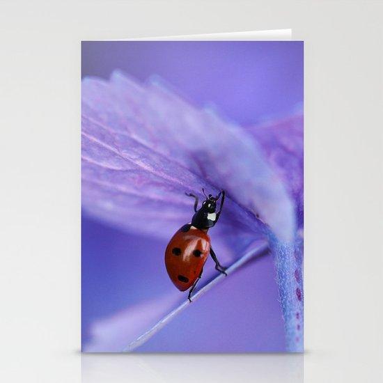 Ladybird on hydrangea Stationery Cards
